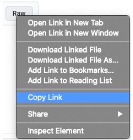 Copy raw URL