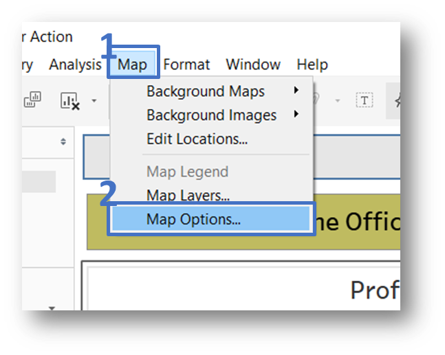 Map Options Menu