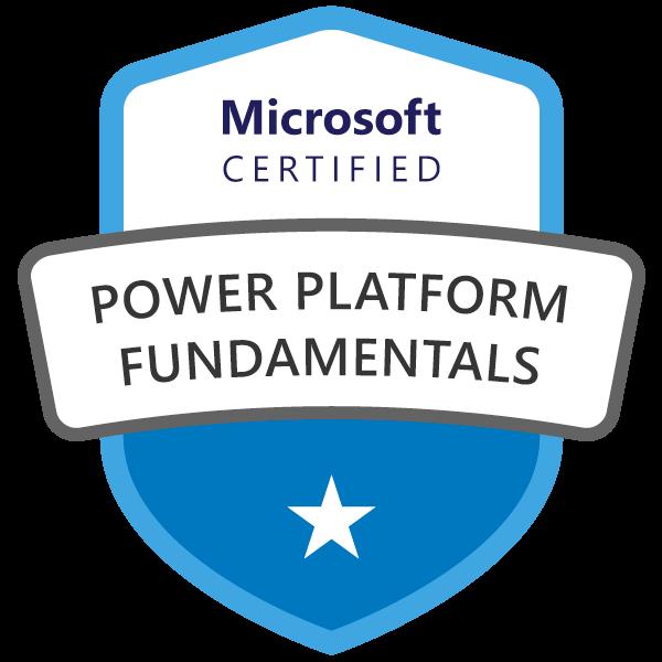 Microsoft 365 Power Platform Fundamentals Certified Badge Image