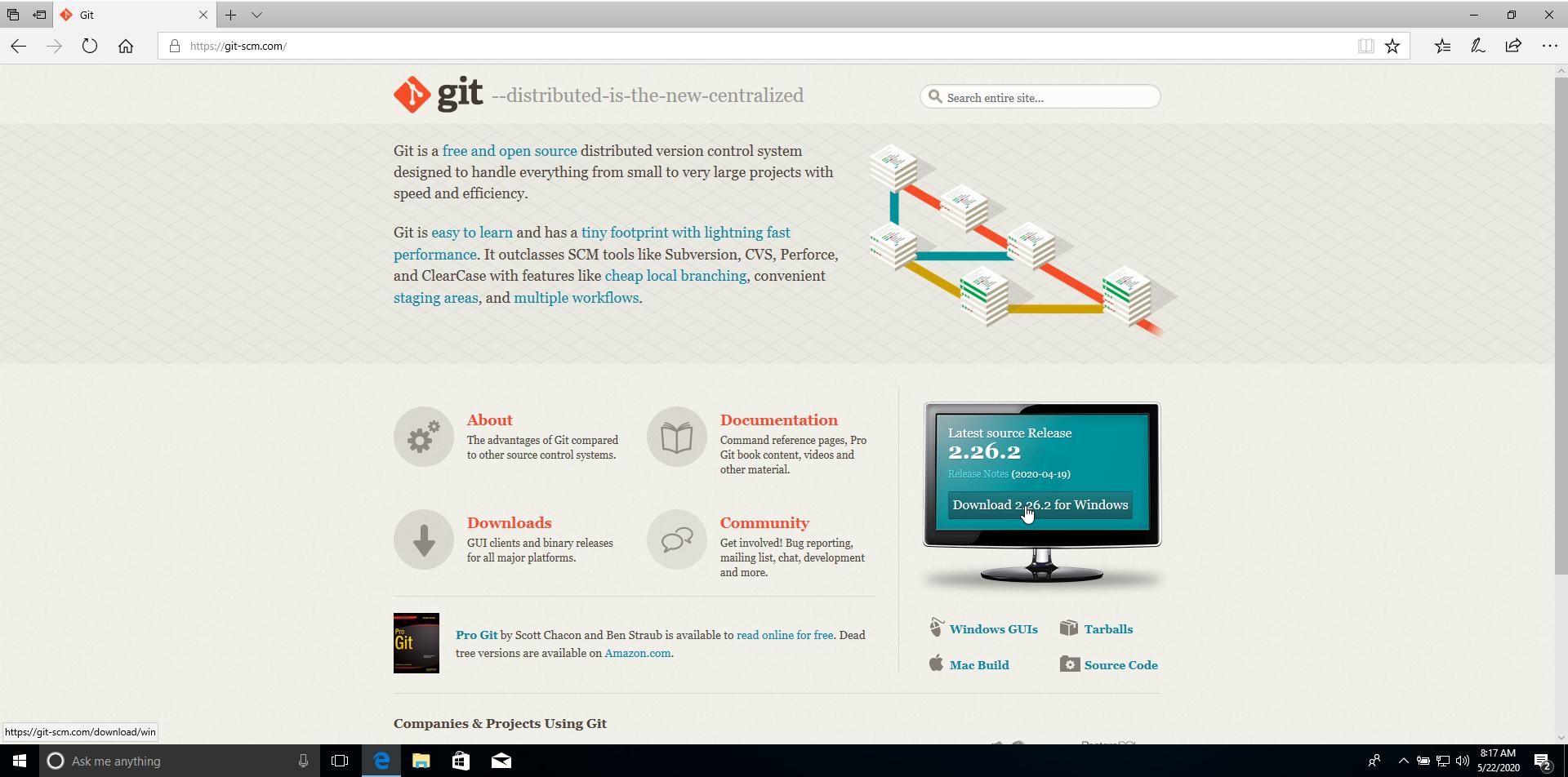 Downloading Git