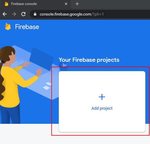 Firebase screenshot