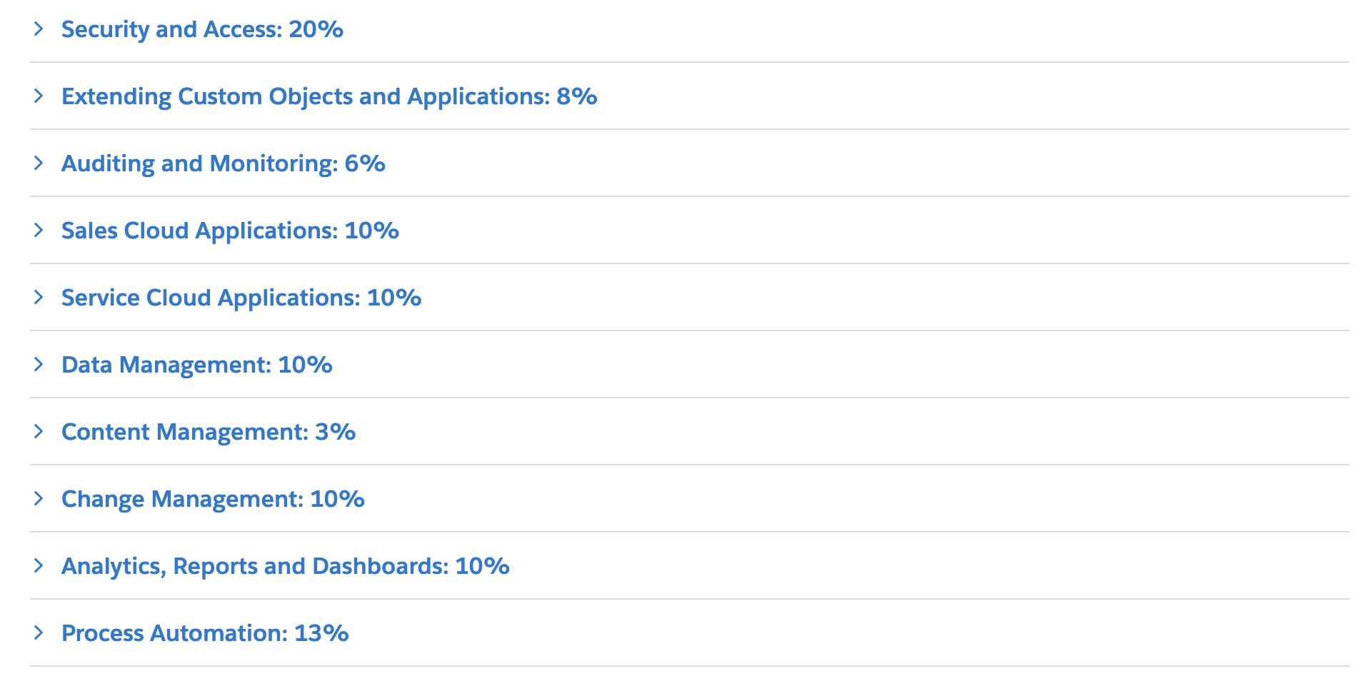 Salesforce Trailhead Exam Outline