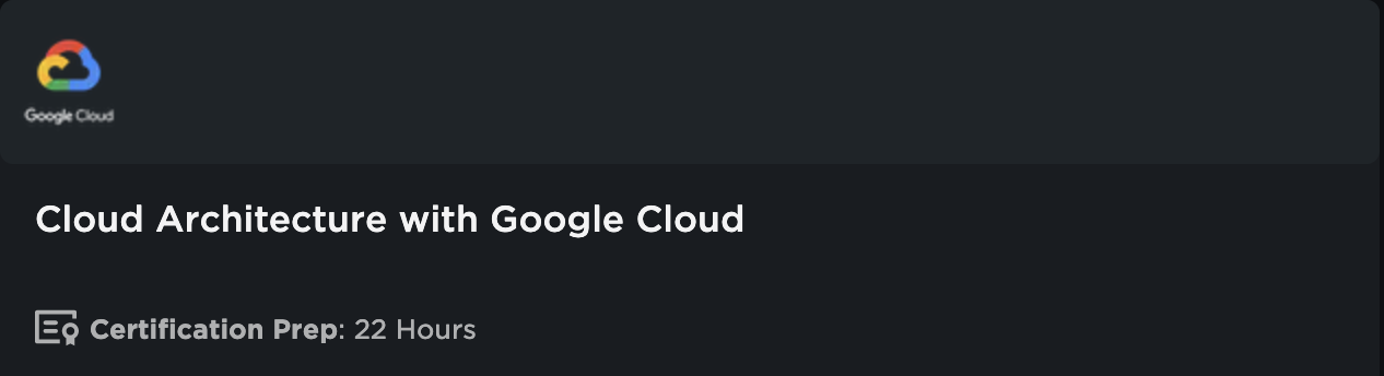 Google Cloud Architecture Learning Path