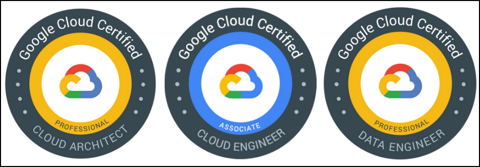 Google Cloud certification badges