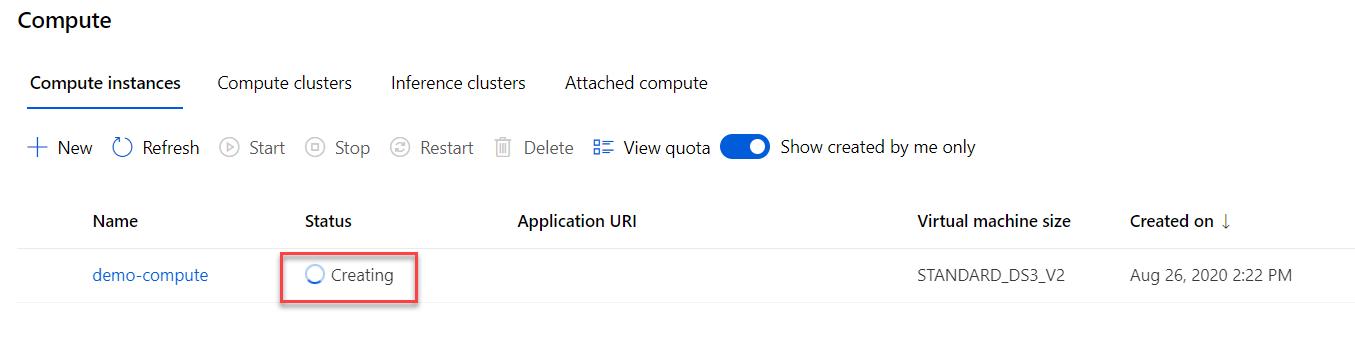 Compute instance status