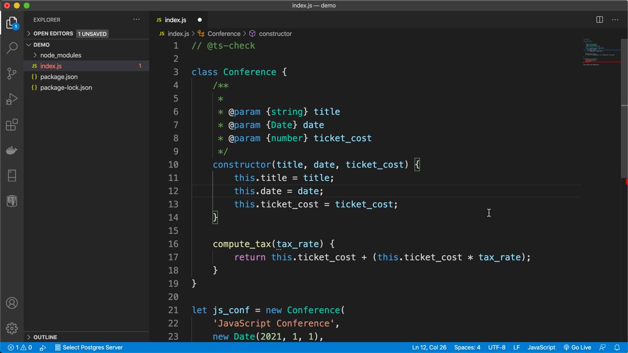Adding types to JSDoc