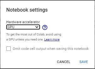 notebook settings