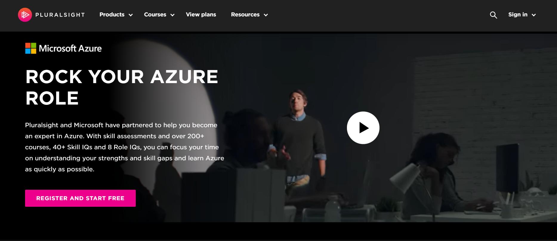 Pluralsight Azure Portal