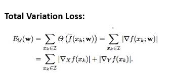 Total variation loss