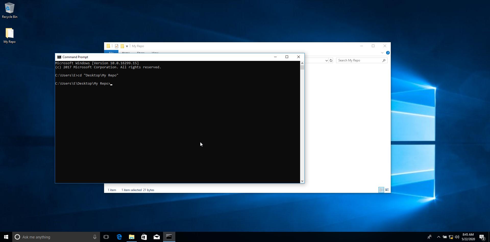 Command Line in Folder Location