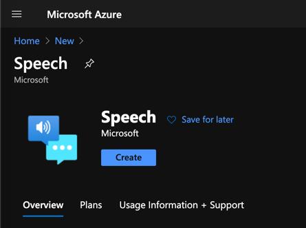 speech service in azure