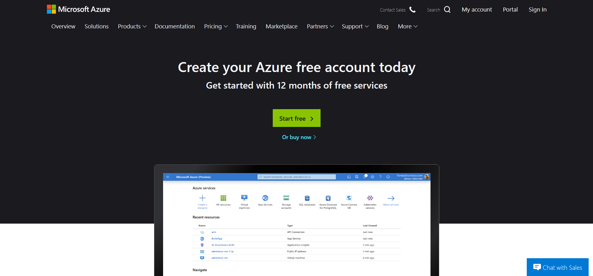 Azure_Create_Account