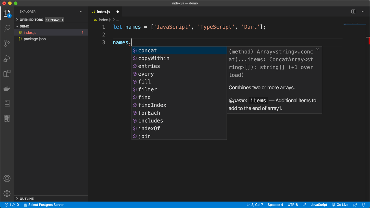Intellisense for built-in types