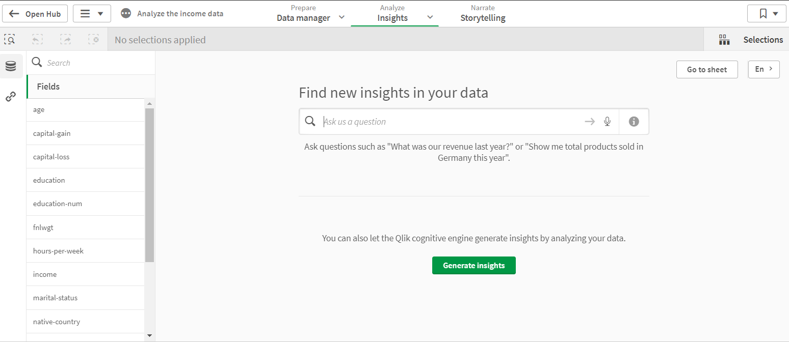 Generate insights