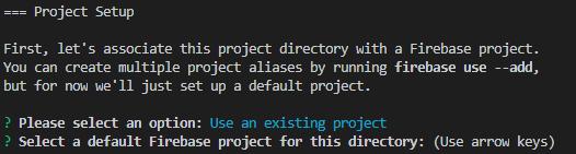project setup for firebase