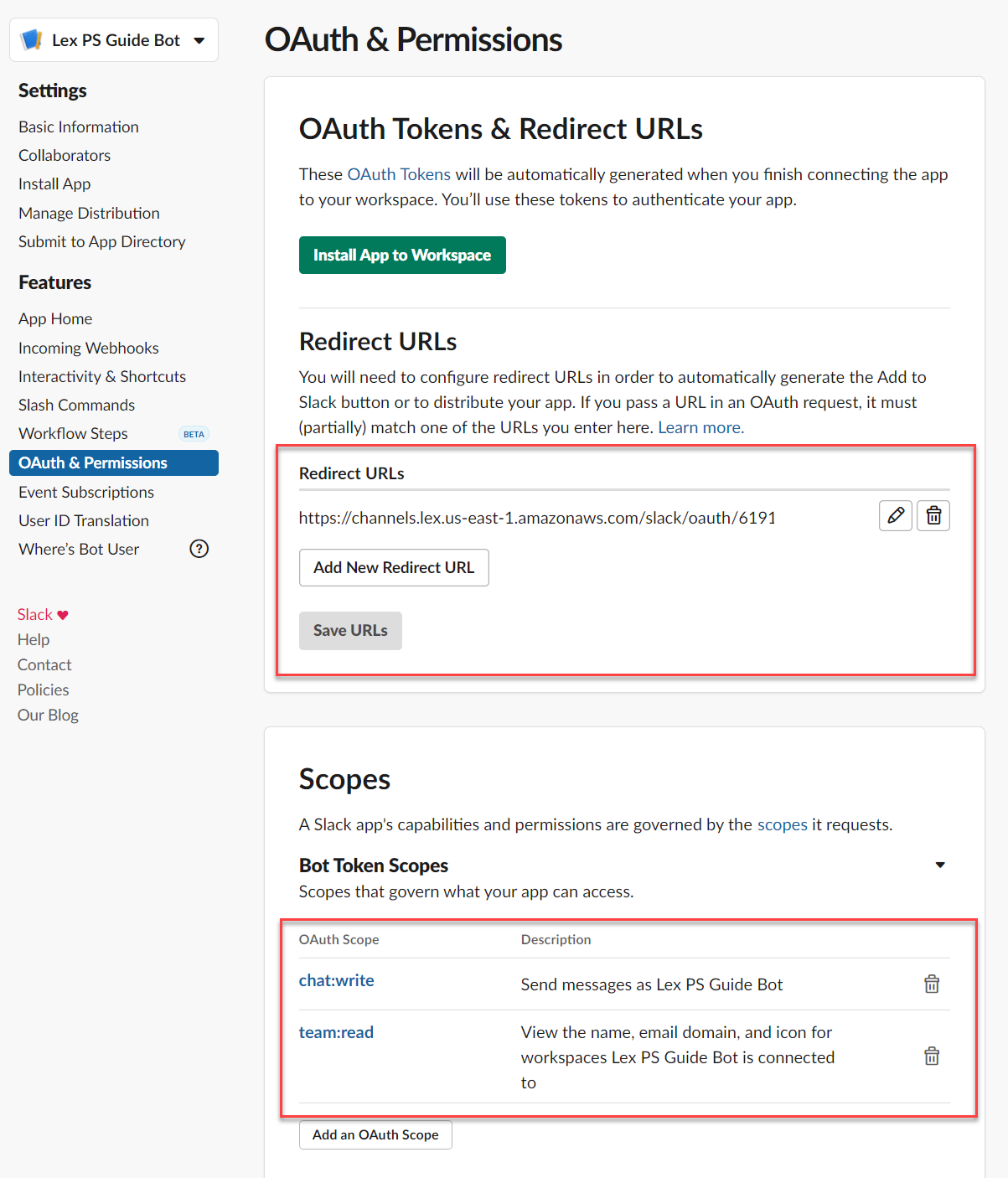 OAuth and permissions