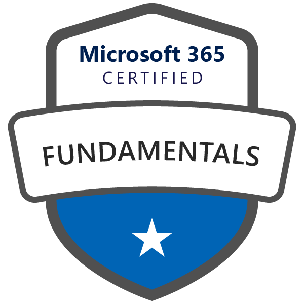Microsoft 365 Fundamentals Certified Badge Image